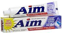 Aim Gel Toothpaste - Tartar Control - 6 Oz