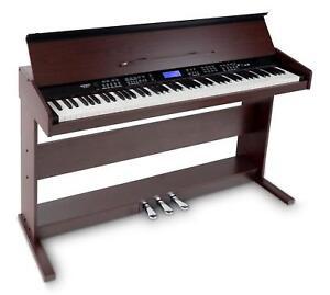 88-Tasten-Digital-E-Piano-Beginner-Home-Keyboard-Klavier-3-Pedale-USB-Braun