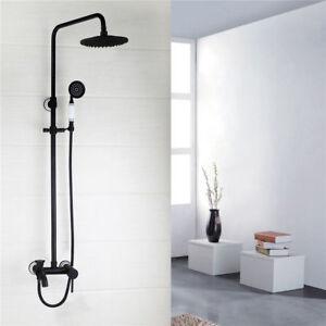 black shower head and faucet. Image Is Loading Bathroom ORB Black 8 Shower Head Amp Handheld  Spray Faucet