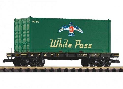 Piko G-Flachwagen con Container Bianco Pass Scala G
