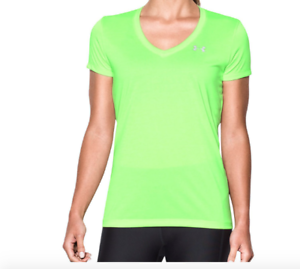 29ab95f5e92 Under Armour Women s Tech V-Neck Heatgear Twist Short Sleeve Shirt ...