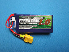 TURNIGY NANO-TECH 1000mAh 3S 25C 11.1V LIPO BATTERY TREX 250 MINI FPV RACE QUAD