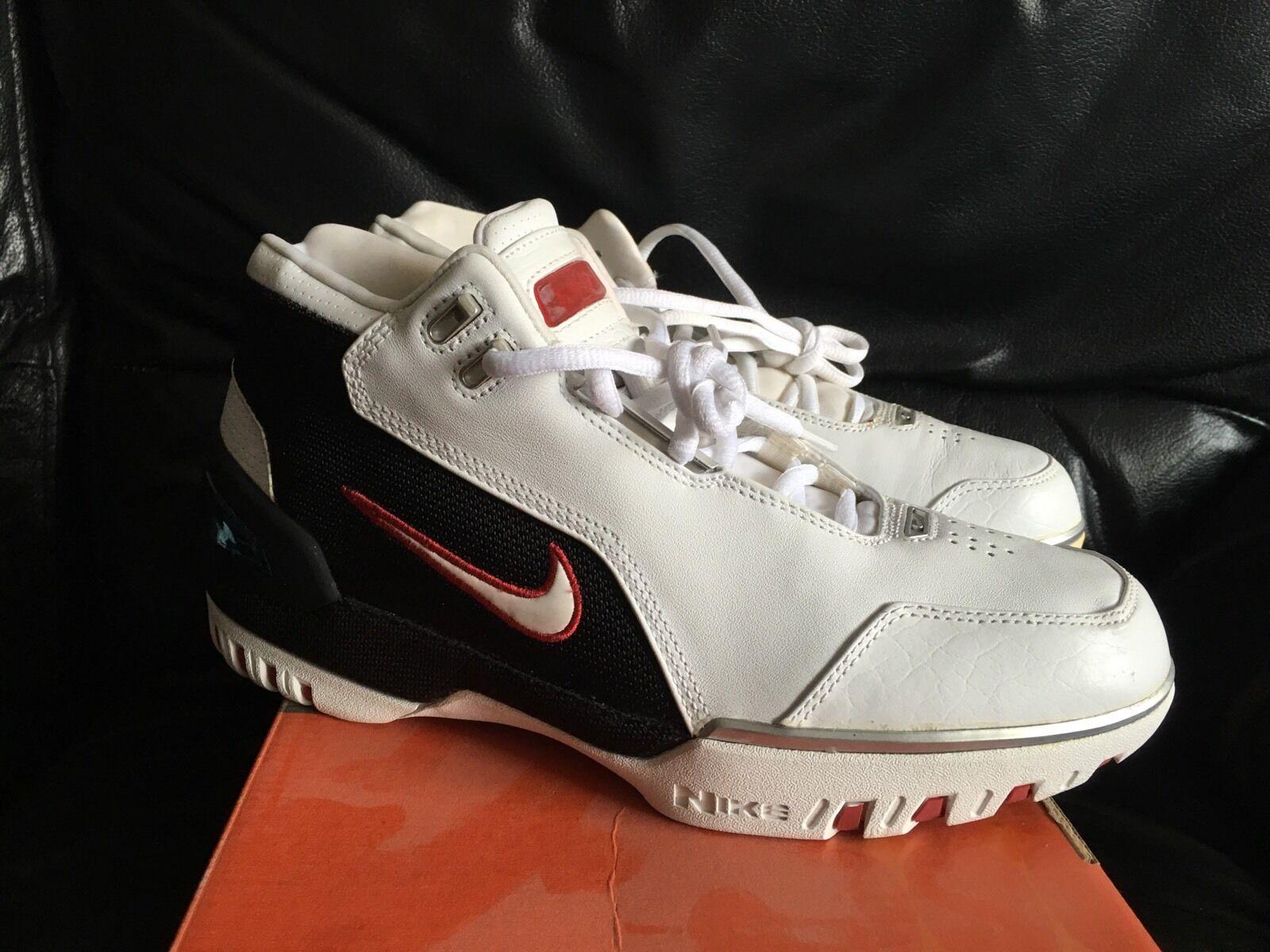 2004 Nike Air Zoom Generation Lebron James 1 size 8.5 w  box white crimson red