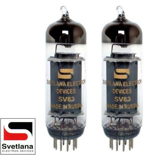 6P15P Vacuum Tubes Brand New Plate Current Matched Pair 2x Svetlana SV83