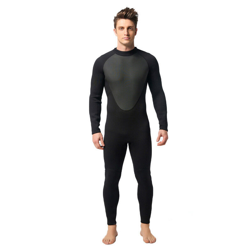 Mens Swimming Suit One-piece Swimsuit Diving Wetsuit 3mm  Neoprene Suits New  free delivery