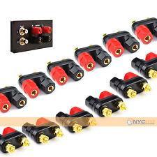 12pcs. New Speaker Amplifier Terminal Binding Post Dual 2-way Banana Plug Jack