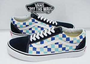c2a5cd68088469 VANS OLD SKOOL (CHECKERBOARD) BLUE TOPAZ VN-0A38G1QCM WOMEN S SIZE ...