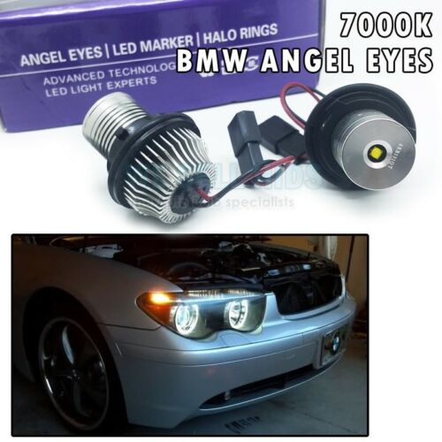 BMW 7-SERIES E65 E66 LED Angel Eyes Marker 7000K XENON 10w halo rings white