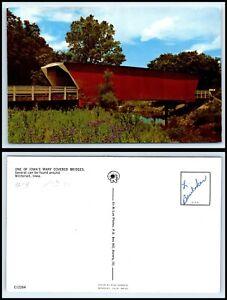 IOWA-Postcard-Winterset-Covered-Bridge-Q26