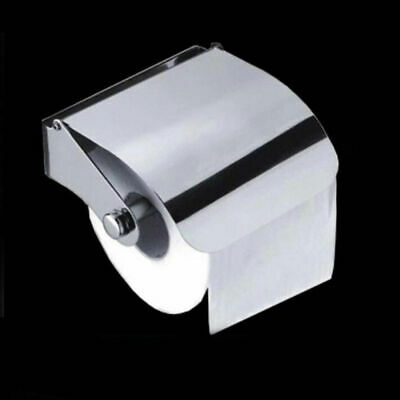 Toilet Roll Tissue Paper Dispenser Holder Square Wall Mounted Item Phone Silver