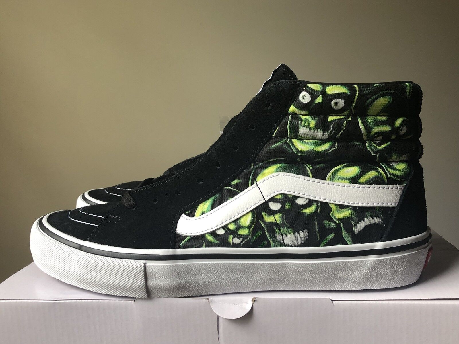 Supreme x Vans Sk8-Hi Skull Pile Glow In The Dark Size 11 SS18 100% AUTHENTIC