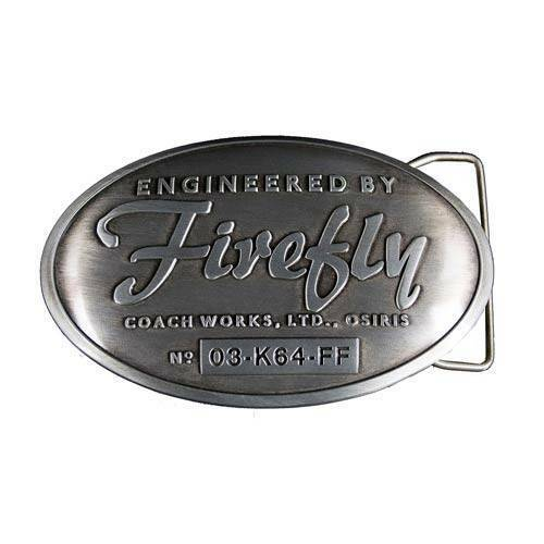 Serenity FIREFLY Licensed NYCC Released Metalized Builder's Plaque BELT BUCKLE