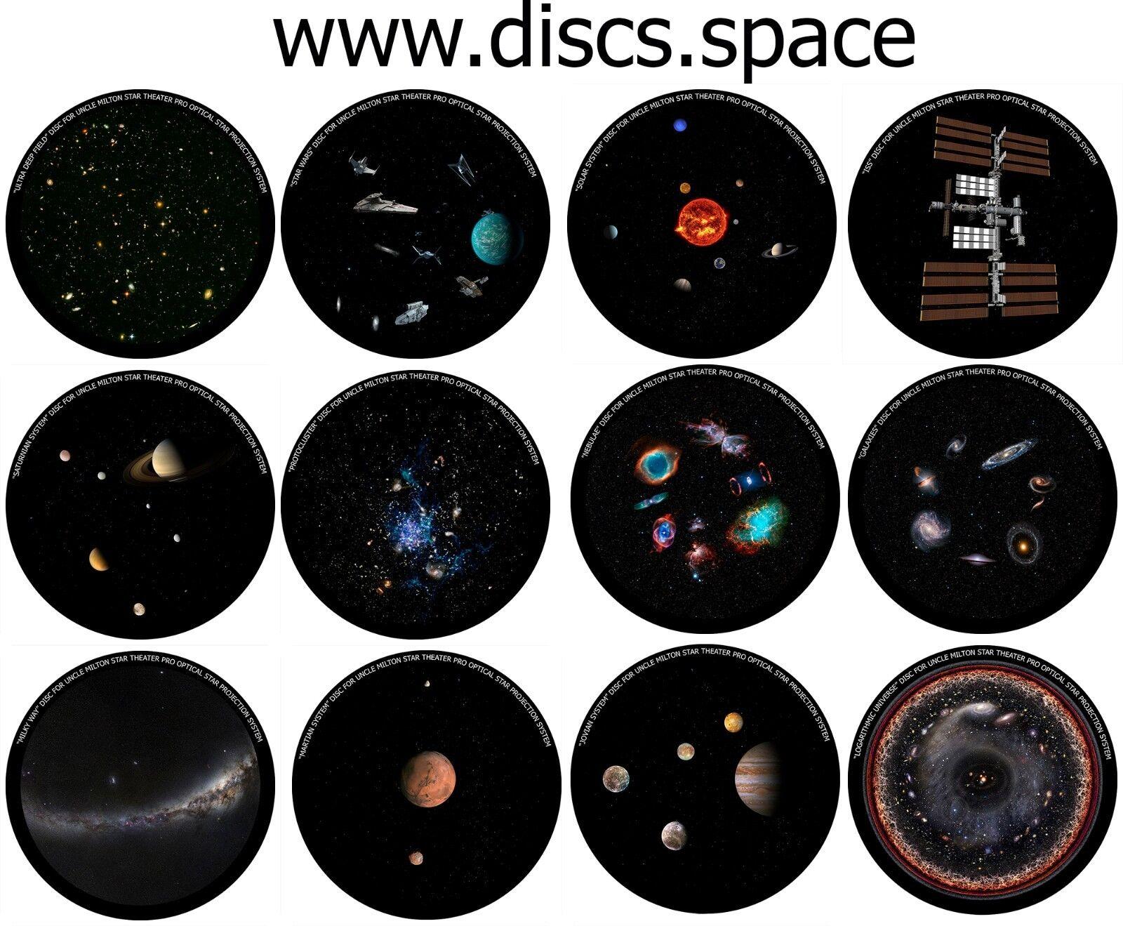 12 discos para Uncle Milton Star Pro Home Theater planetario