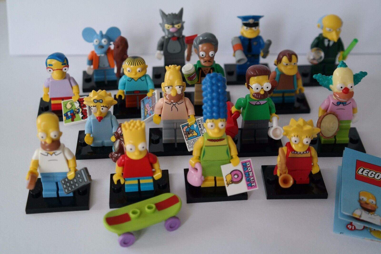 Lego Sammelfiguren 71005 Simpsons 1 - Komplett 16 Figuren NEU