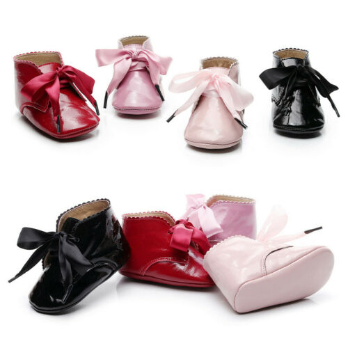 Baby Boots Infant Newborn Girls Boys Leather Shoes First Walkers Shoes Booties
