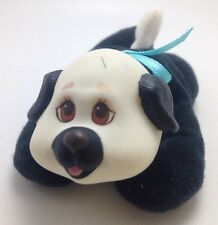 Vintage Hasbro Puppy Surprise Baby Dog Boy White Black Cream Brows