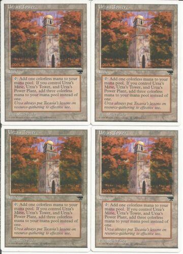 12X Urza Tron Lands 4x Tower 4x Mine Chronicles 4x Power Plant MTG Magic