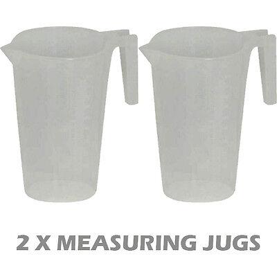 2 X MEASURING HANDLE JUG KITCHEN POURING MITRIC GRADUATIONS 250ML LITRE U12