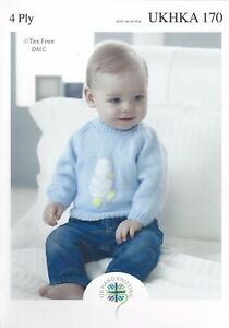 Vat Free Hand Knitting Pattern 4ply Baby Children Sweaters Jumpers
