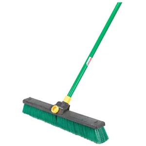 Quickie Bulldozer 24-Inch Multi-Surface Push Broom with Scraper