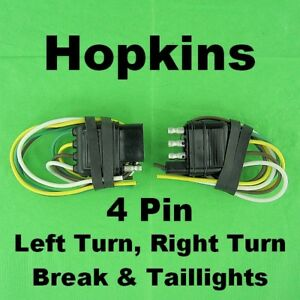 Flat 4 Wire Trailer Lights Connectors Quick Connect Harness Pigtail  Wire Trailer Lights Harness on trailer hitch wire harness, trailer light fuse, trailer light switch, trailer light mounting hardware, seat belt wire harness,