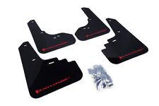 RallyArmor Black Mud Flaps (Red Logo) for 05-09 Subaru Legacy & Outback