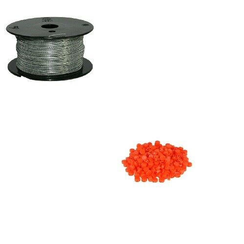 Set Plombendraht 250 Kunststoffplomben orange Prüfmaterial Spardose
