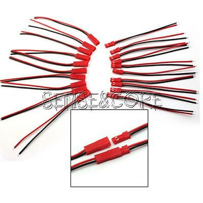 5/10/20Pairs 100mm JST Connector Plug Cable Line Male+Female F RC Lipo Battery
