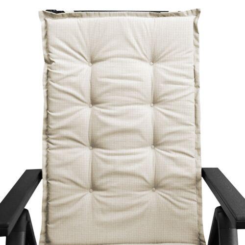 4cm dick beige 6 Stück Polsterauflage Gartenstuhlauflage Sitzauflage 112x45cm