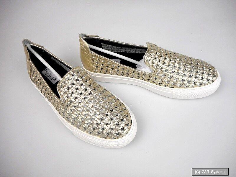 Rachel Zoe RZB-000397 Burke Cracked Nappa Slip-ons Lightgold Damen Sneaker Gr.39