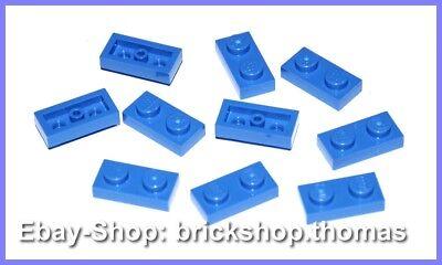 3023 Platten Plate 1X2 transparent Schwarz Black NEU 10X Lego® 6225