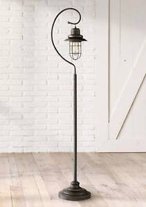Details About Rustic Lantern Floor Lamp Hanging Bronze Scroll Edison Bulb For Living Room