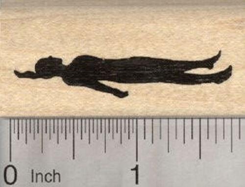 Corpse Pose Yoga Rubber Stamp Savasana Shavasana D28021 WM