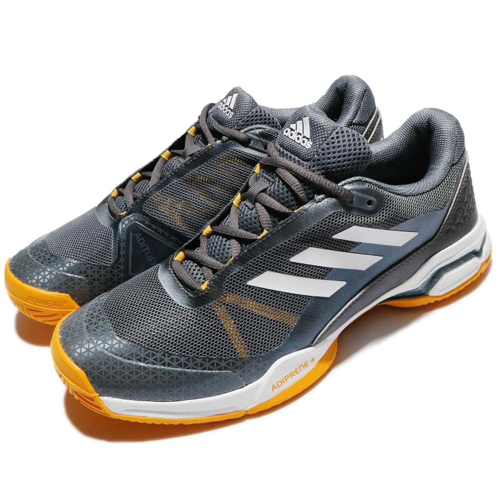 75518470b6478 NEW Adidas Barricade Club Silver Silver Silver Yellow White Men Tennis  Shoes Sneakers BY1638 af0739