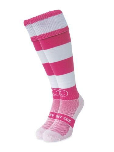 WackySox rose et blanc Hoop Chaussettes De Sport