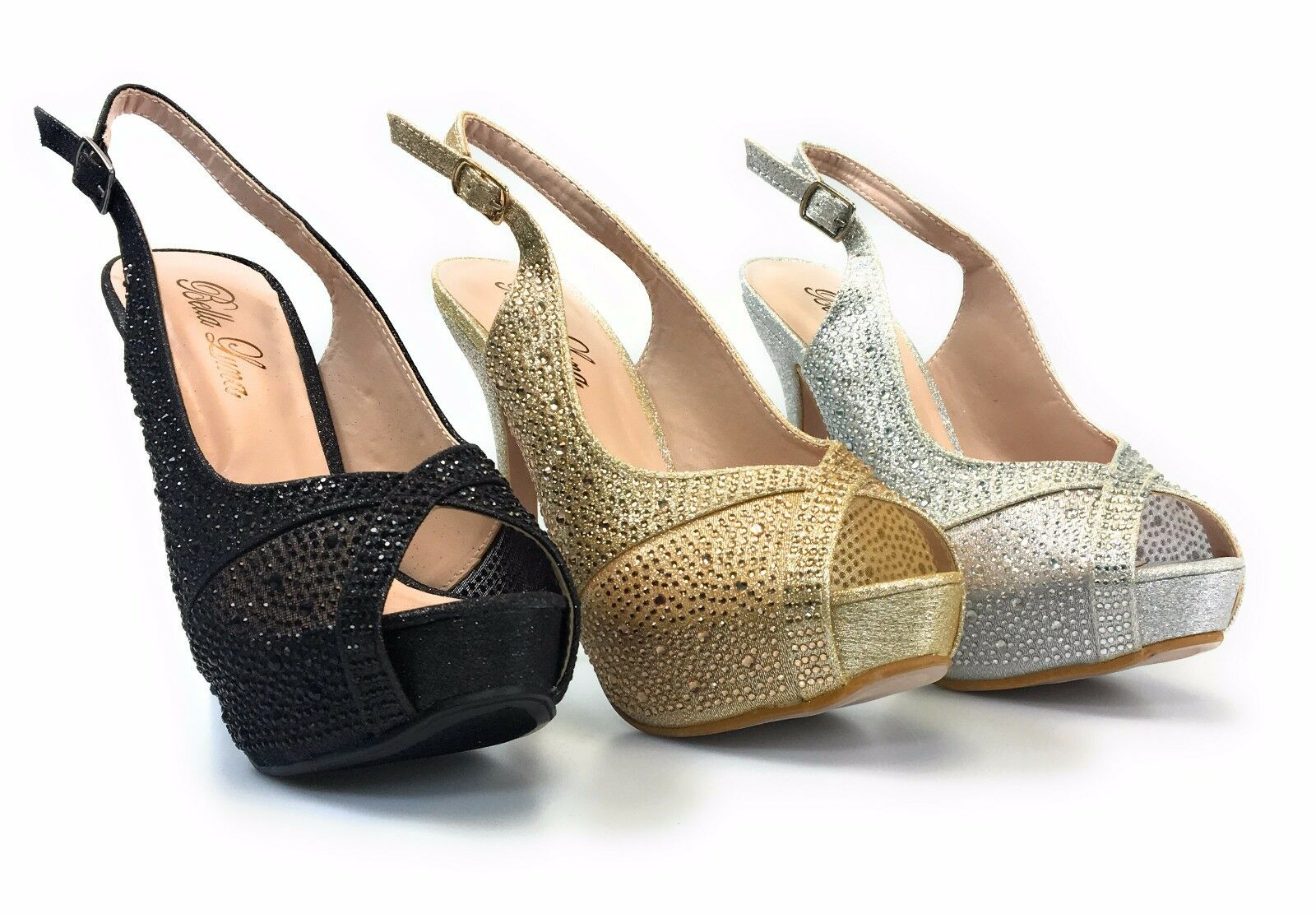 Womens Homecoming Wedding Prom Evening Stiletto Heel Crystal Bella Luna Canny 11