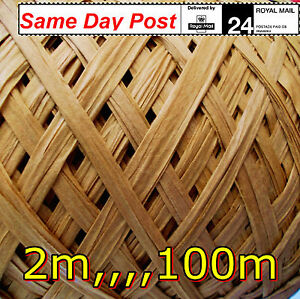 Raffia Paper Natural Caramel Ribbon decorating gifts flowers crafts scrapbooks!