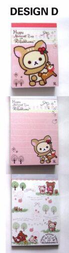 PICK 1pc Rilakkuma Deer happy natural time Mini Notepad memo paper 100 sheets