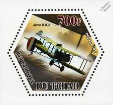WWI RFC/RAF De Havilland Airco DH.2 Pusher Biplane Fighter Aircraft Stamp