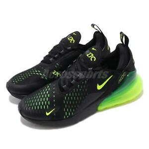 4ff5245adc Nike Air Max 270 Black Volt Grey Men Running Casual Shoes Sneakers ...