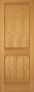 red oak mission shaker flat panel solid core interior wood doors door