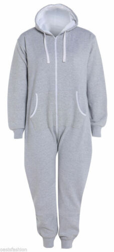 Mens Ladies Plus Size Big Size All In One 1Onesie Hooded Jumpsuit 2XL to 5XL