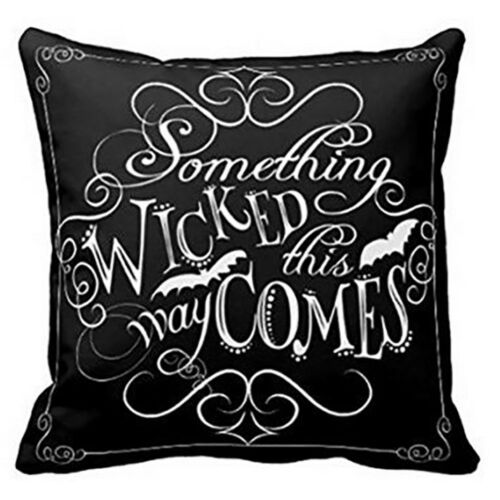 Something Wicked Chalkboard Halloween Throw Home Decorative Throw Pillow Cover