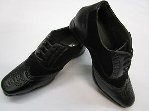 KIDS / BOYS Synthetic Leather Black Brogue Two Tone - Perfect for all Occasions