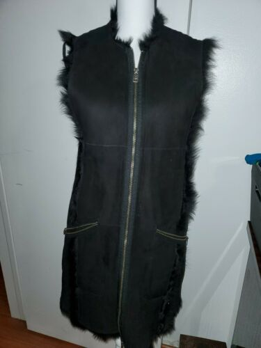 SUADE LEATHER SHEARLING FULL LENGTH REVERSABLE COA