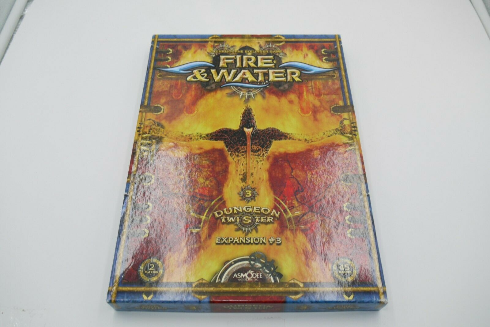 DUNGEON TWISTER 3 Expansion Fire & Water Board Game ASMODEE COMPLETE