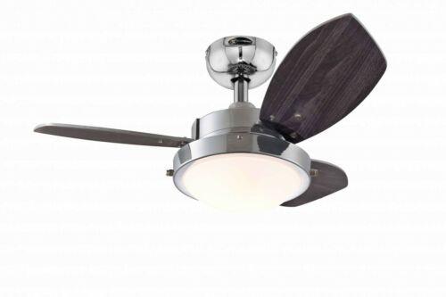 "Piccolo Ventilatore da soffitto da interno Luce Westinghouse Wengue 76 cm//30/"" Oro Brown"