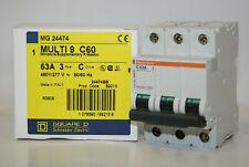 MERLIN GERIN MULTI-9 C60N 8A CIRCUIT BREAKER *LOT OF 2* *PZF*