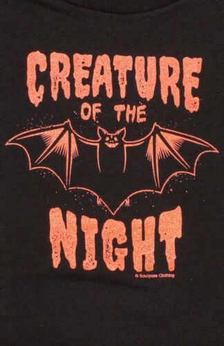 86354 Black Creature of the Night T-Shirt Sourpuss Kids Baby Goth Halloween 2T