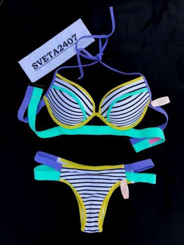 Victoria/'s Secret NWT Bikini~Happy Stripes Hottie Add 1Cup Halter~Itsy~Many Size